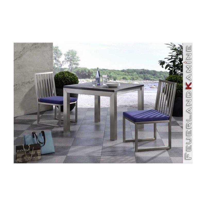 Esstisch 80 cm x 80 cm mit granitplatte for Esstisch mit granitplatte